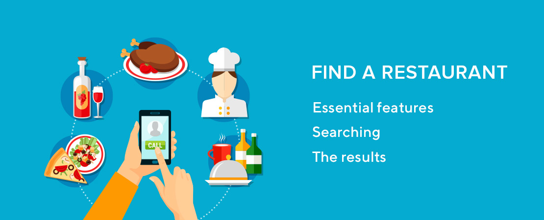 steps to find restaurant online